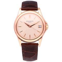 Pre-Owned Patek Philippe Calatrava 18 Karat Rose Gold 5127R-001 Watch
