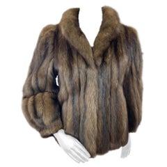 Roberts San Francisco Russian Sable Fur Jacket (Size 6-S)