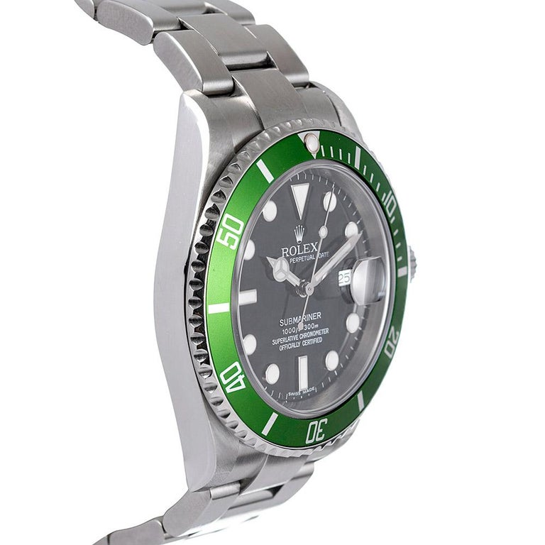 Pre-Owned Rolex Anniversary Submariner Ref. #16610V In Good Condition For Sale In Carmel-by-the-Sea, CA