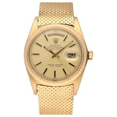 Pre-Owned Rolex Day-Date 18 Karat Yellow Gold 1803 Watch