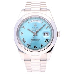 Pre-Owned Rolex Day-Date Platinum 218206 Watch