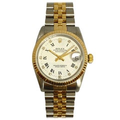 Pre-Owned Rolex Ladies Datejust Midsize 18k Yellow & Steel Diamond Dial