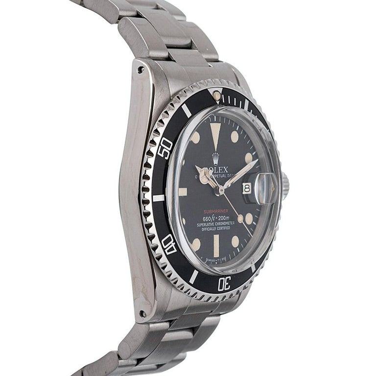 Pre-Owned Rolex MKV Red Submariner Ref. #1680 In Good Condition For Sale In Carmel-by-the-Sea, CA