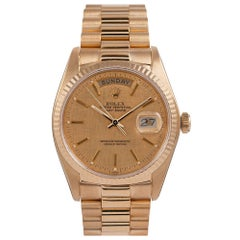 "Pre-Owned Rolex ""Single Quick"" Day-Date Ref. #18038 with Textured Dial"