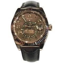 Gebrauchte Rolex Himmelsbewohner 18 Karat Everose Ref # 326135