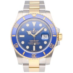 Pre-Owned Rolex Submariner Date Stainless Steel and Yellow Gold 116613LB
