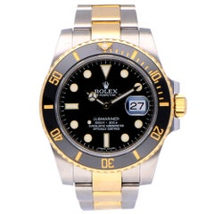 Pre-Owned Rolex Submariner Date Stainless Steel and Yellow Gold 116613LN