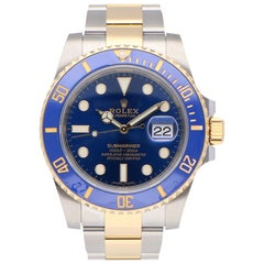 Pre-Owned Rolex Submariner Date Stainless Steel and Yellow Gold