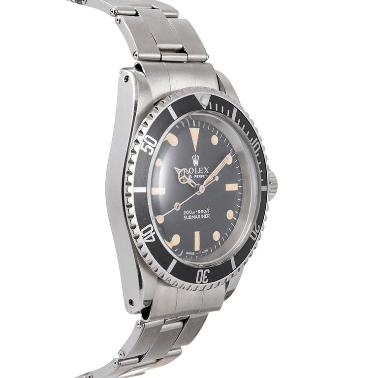 """Pre-Owned Rolex Submariner Ref. #5513 with """"Meters First"""" Dial In Good Condition For Sale In Carmel-by-the-Sea, CA"""