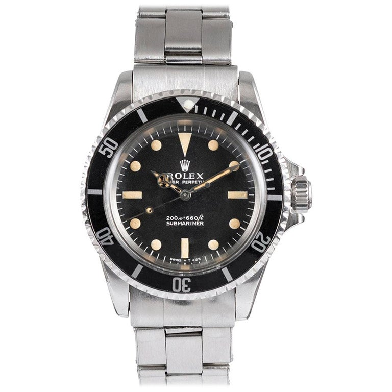 """Pre-Owned Rolex Submariner Ref. #5513 with """"Meters First"""" Dial For Sale"""