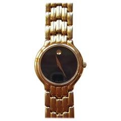 Pre-owned Watch Case Black Face Movado Museum, Ladies Water Resistant