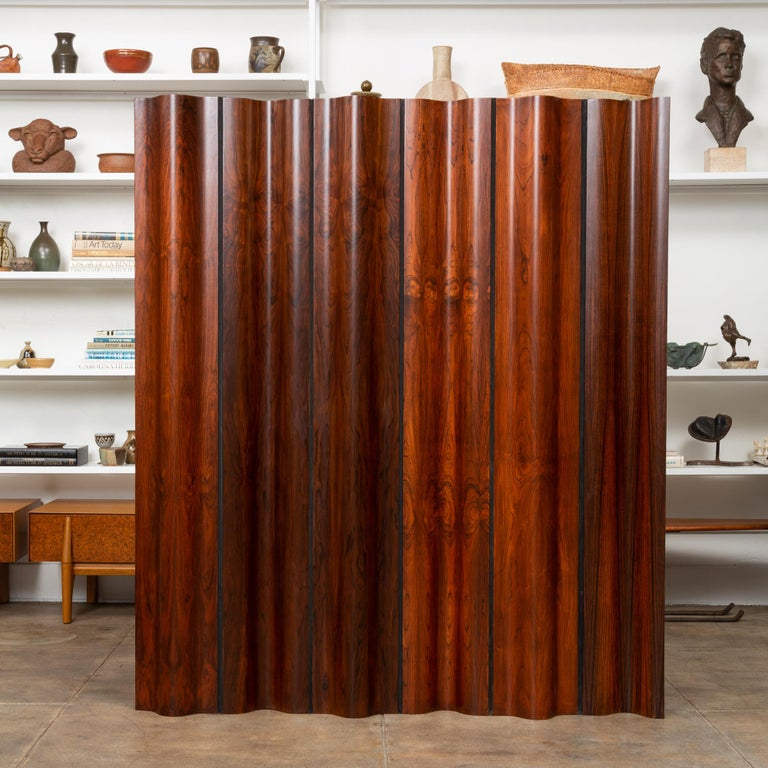 Mid-Century Modern Pre-Production Eames Rosewood Folding Screen for Herman Miller