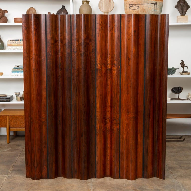 American Pre-Production Eames Rosewood Folding Screen for Herman Miller