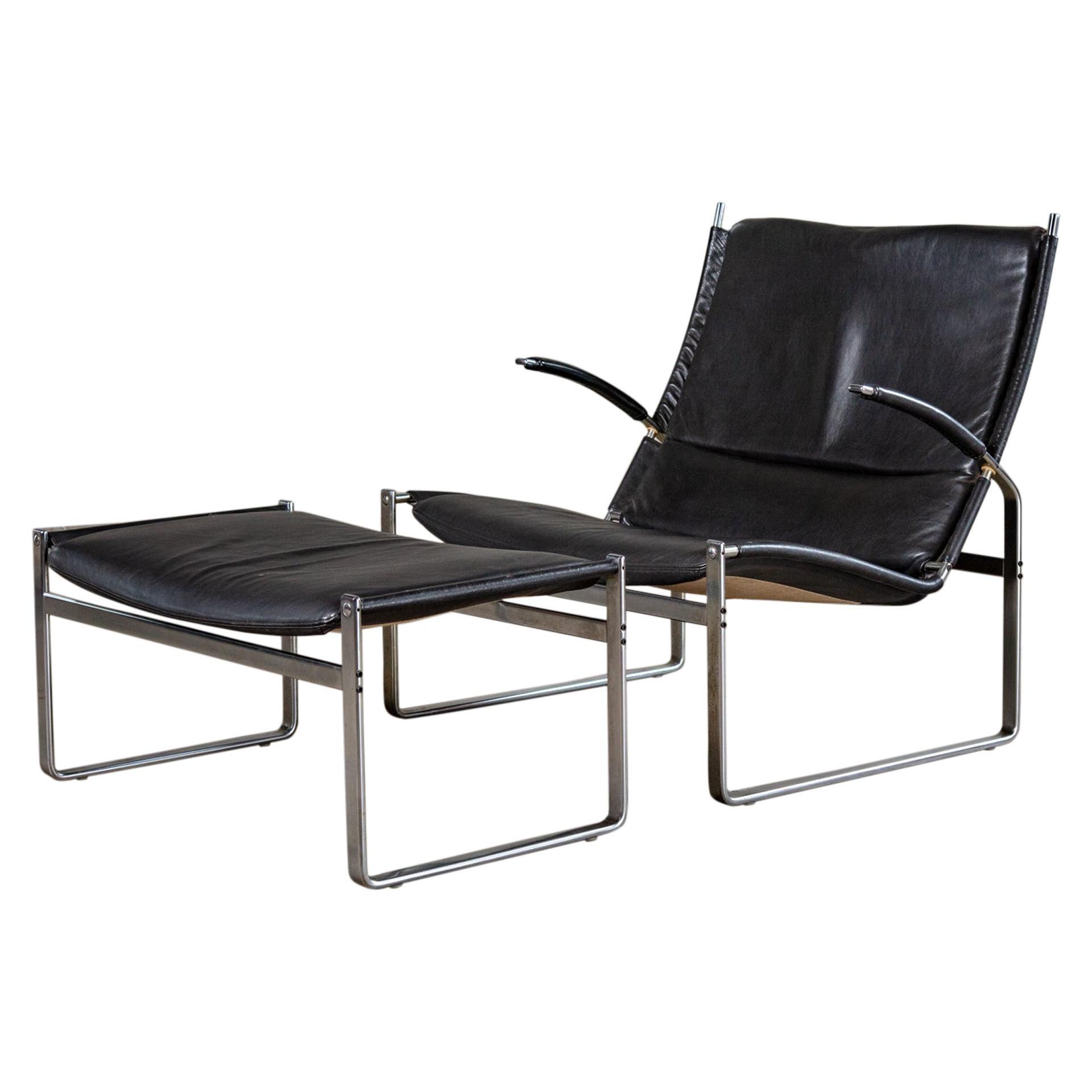 Preben Fabricius and Jorgen Kastholm Lounge Chair