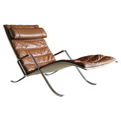 Preben Fabricius and Jørgen Kastholm Grasshopper Chaise for Alfred Kill