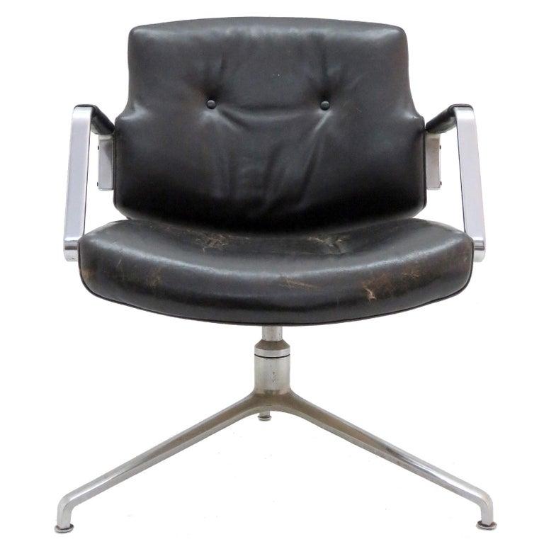 Preben Fabricius and Jørgen Kastholm Office Chair Model FK84 For Sale