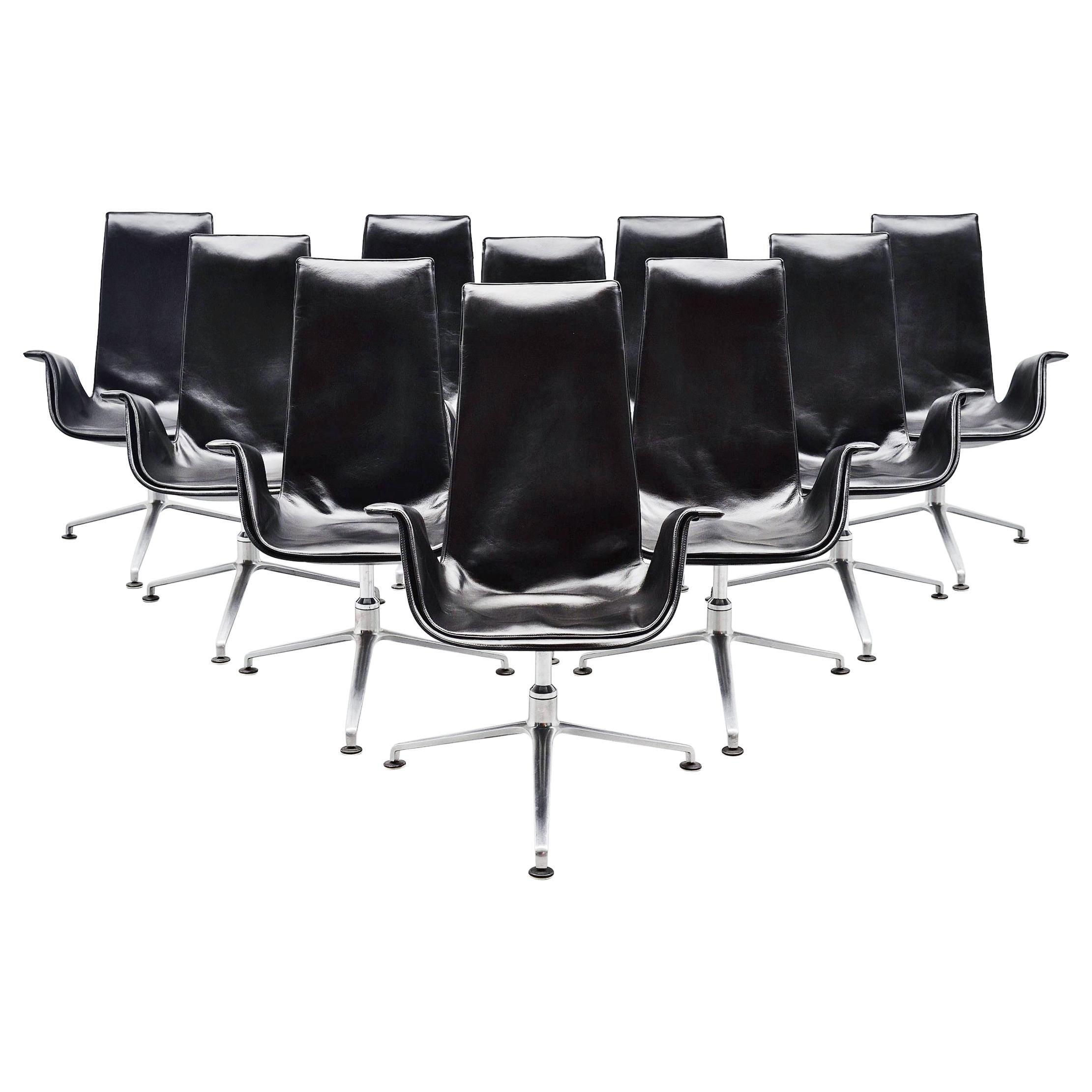 Preben Fabricius Jorgen Kastholm Bird Chairs Set Kill 1964