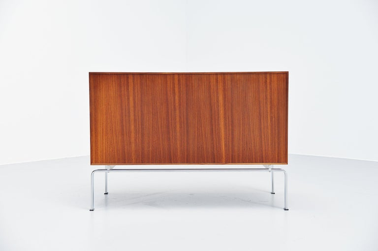 Storage cabinet model FK100 designed by designer Duo Preben Fabricius and Jorgen Kastholm and manufactured by Kill International, Germany, 1965. This is a rare early production, the cabinet is no longer produced in rosewood as rosewood is a