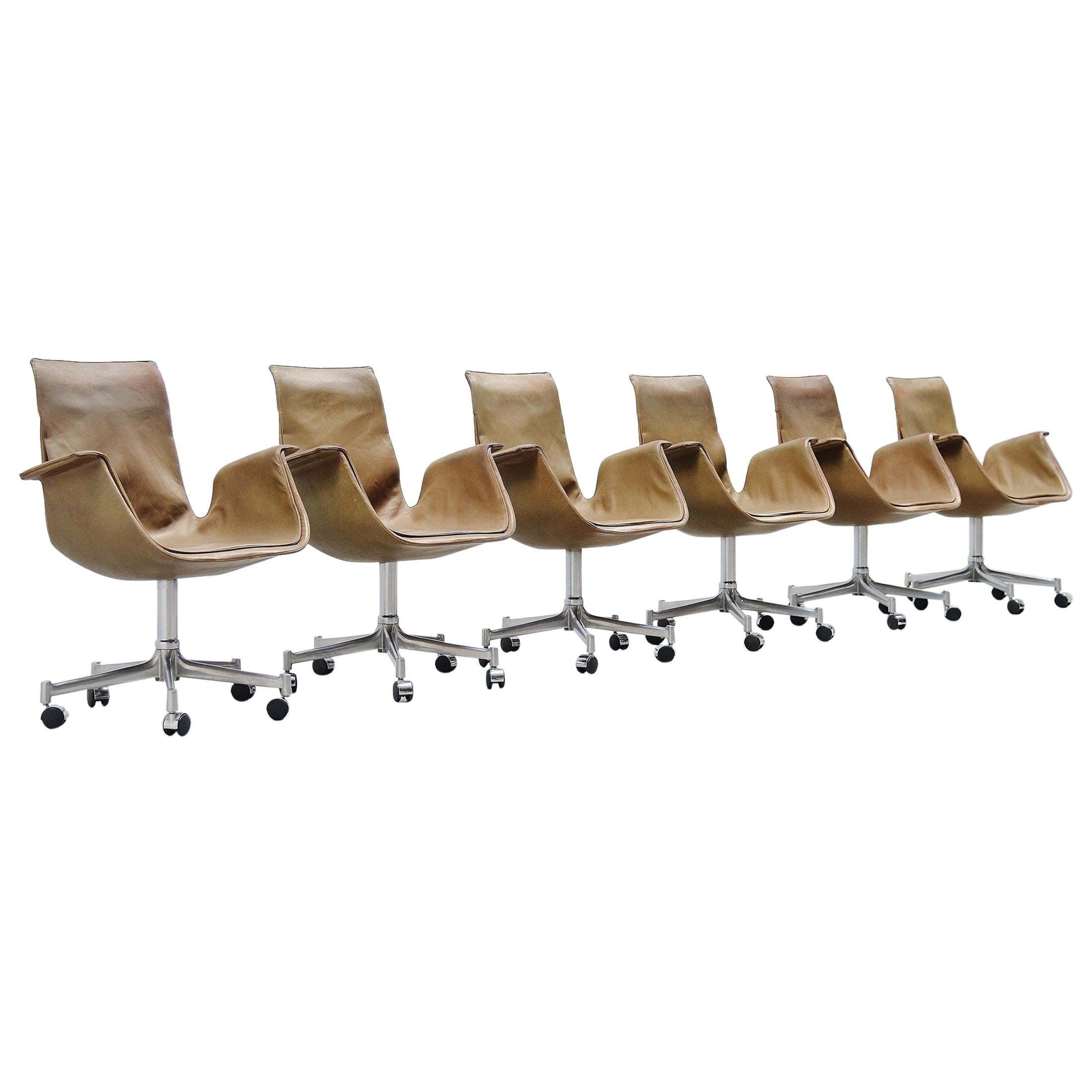 Preben Fabricius Jorgen Kastholm FK6727 Bird Office Chairs, 1964