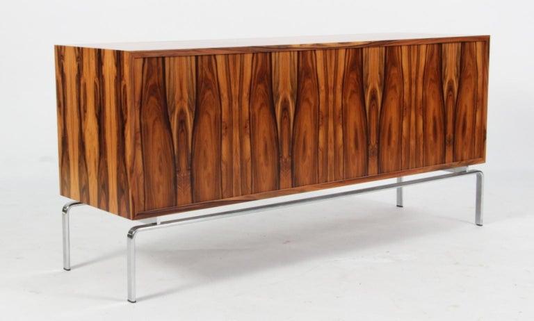 Preben Fabricius & Jorgen Kastholm Freestanding Credenza, Model FK150, Rosewood For Sale 4