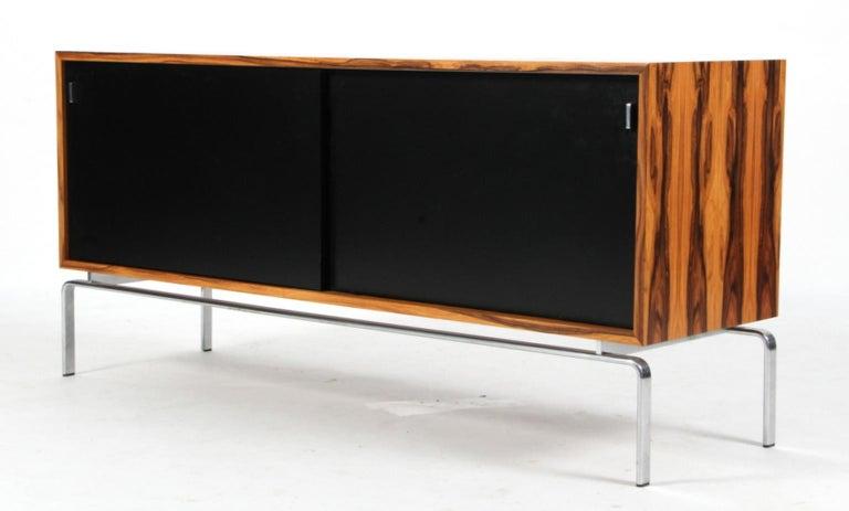 Scandinavian Modern Preben Fabricius & Jorgen Kastholm Freestanding Credenza, Model FK150, Rosewood For Sale