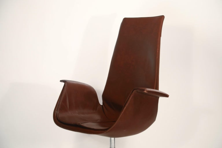 Preben Fabricius & Jørgen Kastholm 'Bird' Chairs for Alfred Kill International For Sale 5