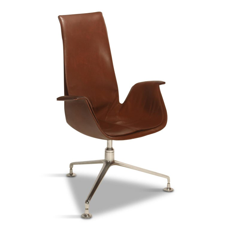Preben Fabricius & Jørgen Kastholm 'Bird' Chairs for Alfred Kill International For Sale 1