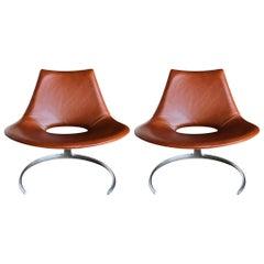Preben Fabricius & Jørgen Kastholm Scimitar Chair by Ivan Schlecter, circa 1965