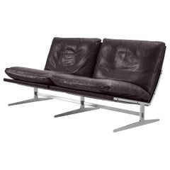 Preben Fabricius & Jørgen Kastholm Sofa in Leather and Steel
