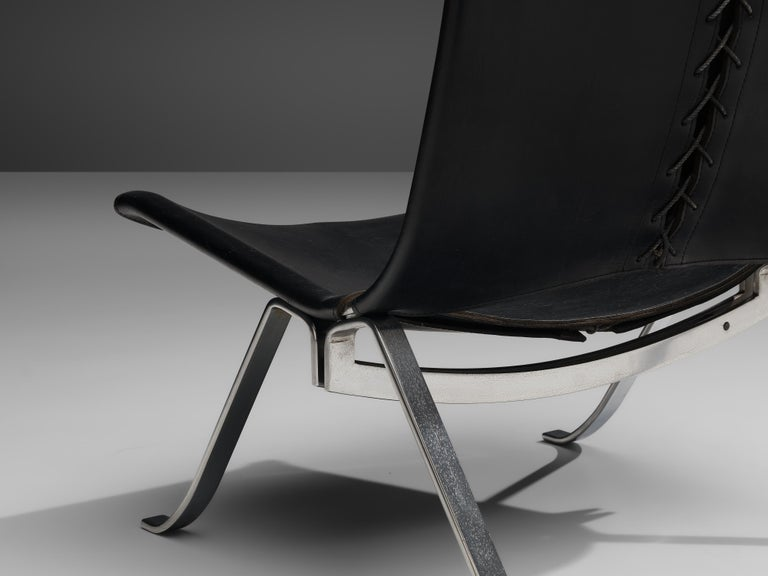 Preben Fabricius Set of Two Lounge Chairs in Black Leather In Good Condition For Sale In Waalwijk, NL
