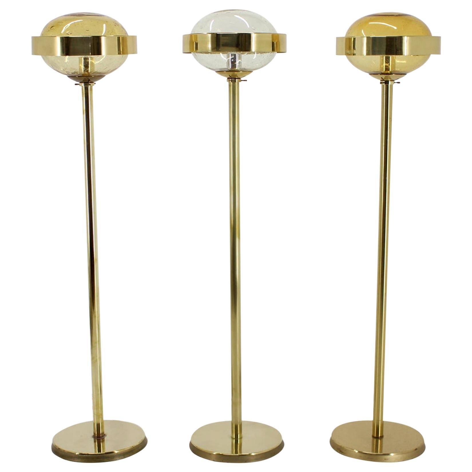 Preciosa Gold Floor Lamp, Czechoslovakia