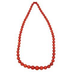 Precious Coral Necklace 88.8 Grams
