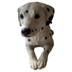 Precious Dalmation Dog Sculpture Sandicast by Sandra Brue San Diego, Calif 1986