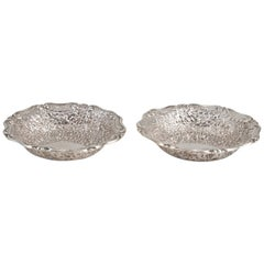 Precious Pair of Victorian Silver Bowls, by Horace Woodward & Co., 1895