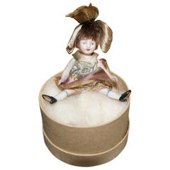Precious Porcelain Biscuit Doll, circa 1930