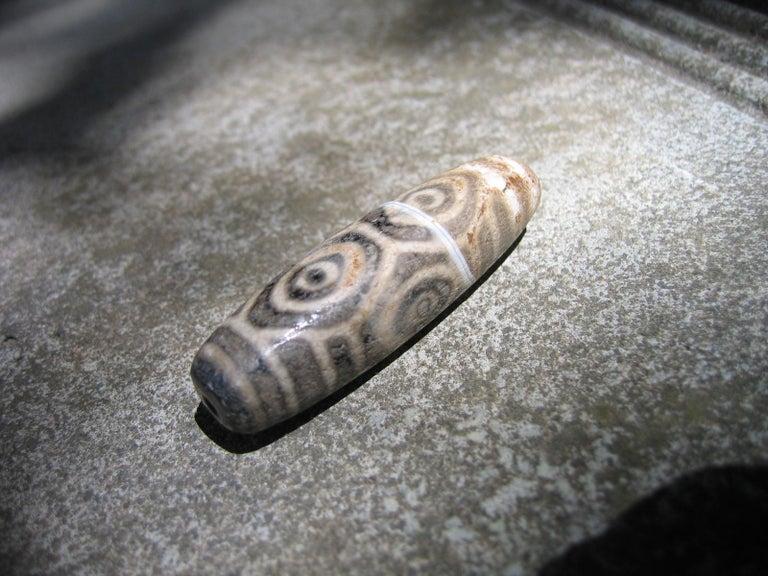 Precious Protective Tibet Antique Six Eye Dzi Bead Amulet Necklace