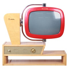 Predicta Chalet Mid-Century Modern Space Age Television by Telstar
