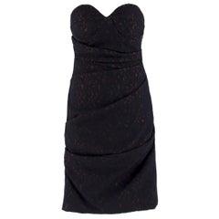Preen By Thornton Bregazzi Black Draped Lace Dress SIZE L