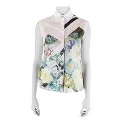 Preen by Thornton Bregazzi Multicolor  Cotton Warren Sleeveless Shirt XS