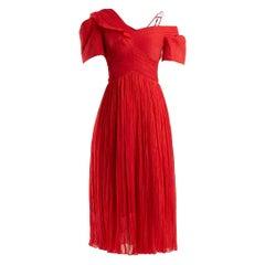 Preen by Thornton Bregazzi Red Cyra silk dress - Size L