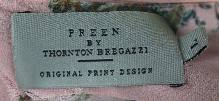 Women's Preen By Thornton Bregazzi Ruffled Floral Print Georgette Maxi Dress For Sale