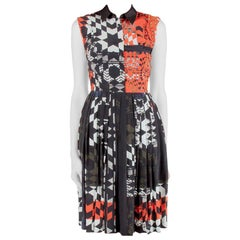 Preen by Thornton Bregazzi Starbox Print Silk Sleeveless Midi Shirt Dress XS