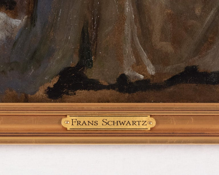 Preliminary Study for The Wise and Foolish Virgins by Frans Schwartz In Good Condition For Sale In Salt Lake City, UT