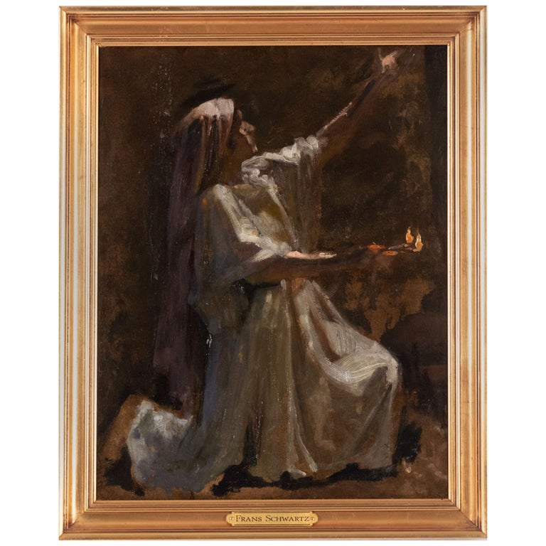 Preliminary Study for The Wise and Foolish Virgins by Frans Schwartz For Sale