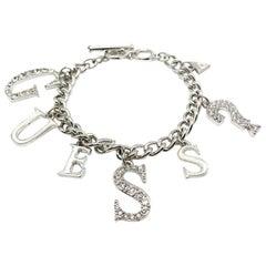 Preloved Guess Silver Letter Logo Bracelet 2000S