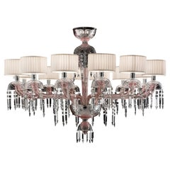 Premiere Dame 5696 12 B Chandelier in Glass with White Shade, by Barovier & Toso