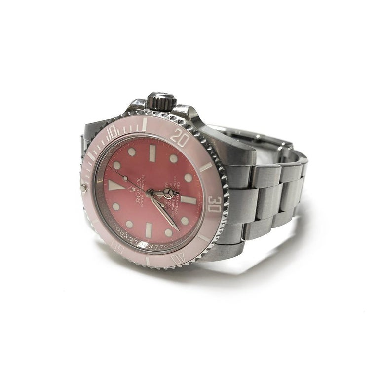 Contemporary Rolex Submariner Oyster Women's, Oyster steel Preowned Custom Wrist Watch For Sale