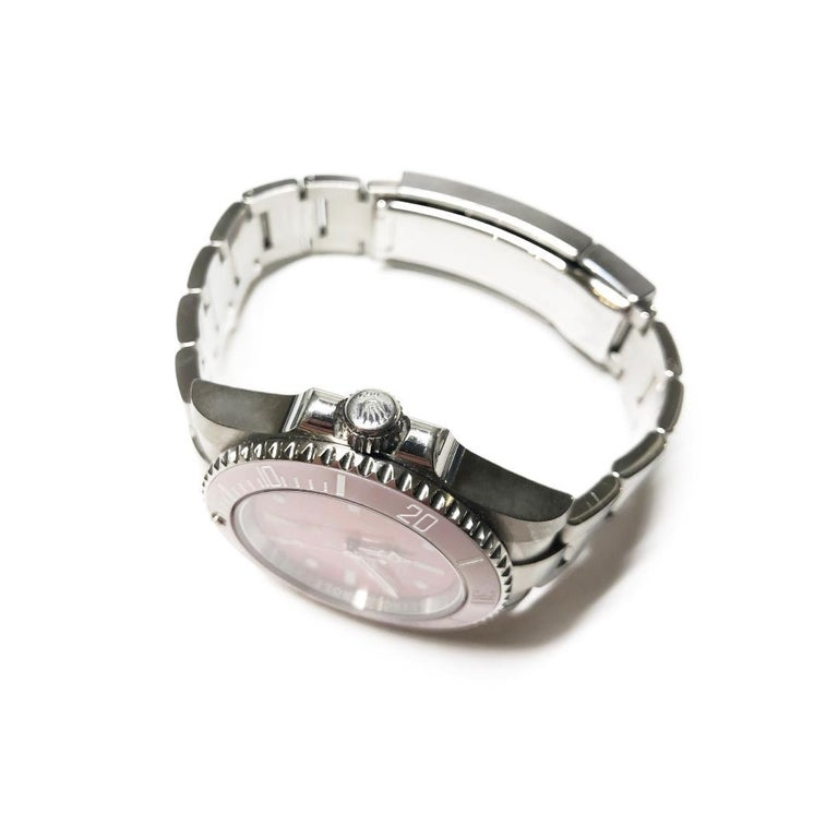 Rolex Submariner Oyster Women's, Oyster steel Preowned Custom Wrist Watch In Excellent Condition For Sale In Florence, IT