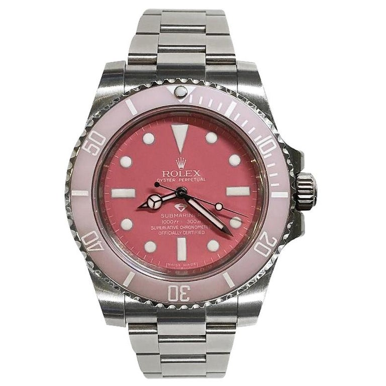 Rolex Submariner Oyster Women's, Oyster steel Preowned Custom Wrist Watch For Sale