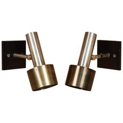 Prescolite Chrome and Anodized Aluminum Sconces